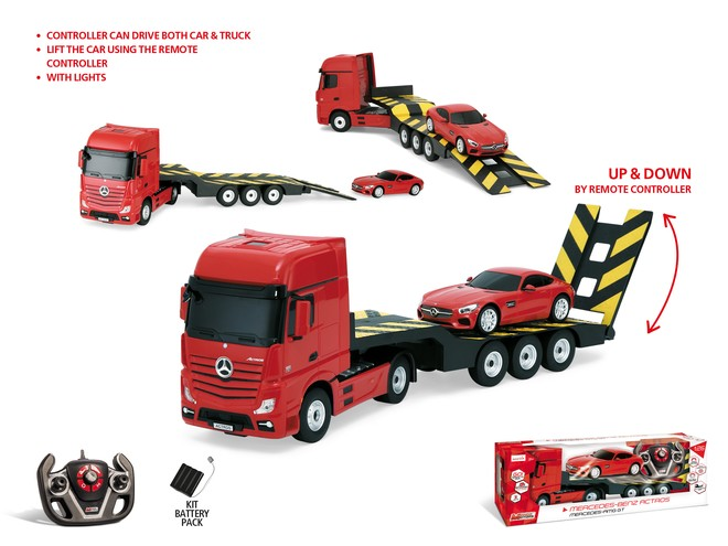 63456 - 1:26 MERCEDES ACTROS with 1:24 MERCEDES AMG GT R/C